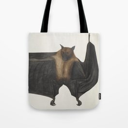 Vintage Indian Fruit Bat Illustration (1782) Tote Bag