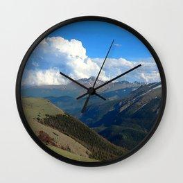 Watercolor Landscape, Trail Ridge Road 09, RMNP, Colorado Wall Clock