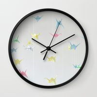 origami Wall Clocks featuring Origami by aembish