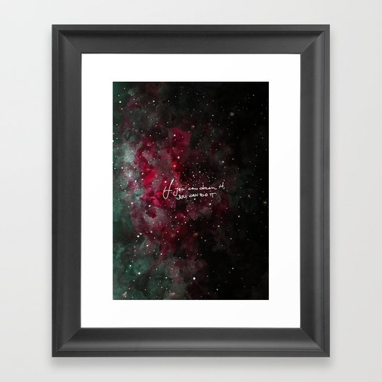 You can do it-red Framed Art Print