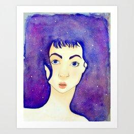 stars in her eyes Art Print
