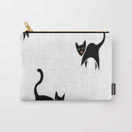 Black cats rule Carry-All Pouch