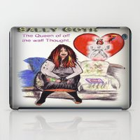 goth iPad Cases featuring SALLY GOTH by KEVIN CURTIS BARR'S ART OF FAMOUS FACES