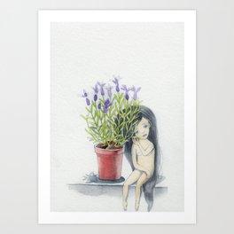 listening to the lavender's breath Art Print