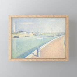 Georges Seurat - The Channel of Gravelines Framed Mini Art Print