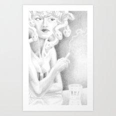 Floozie Medusa Art Print