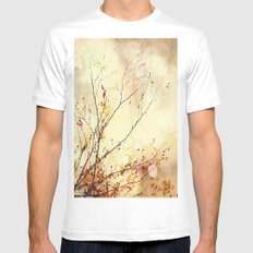Autumnal Bliss  MEDIUM Mens Fitted Tee White