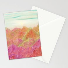 Lines in the mountains XVIII Stationery Cards