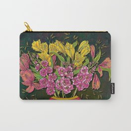 Red Vase and Flowers Carry-All Pouch