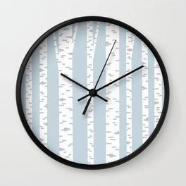 Minimalist Birch Trees by Amanda Laurel Atkins Wall Clock