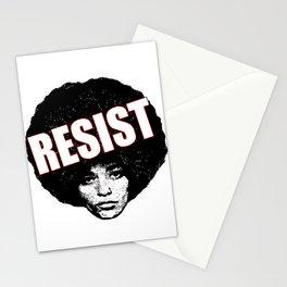 Angela Davis - Resist (black version) Stationery Cards