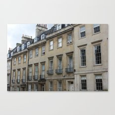 Row of Houses in Bath Canvas Print