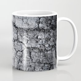 Texture - a bark of old oak with moss in grey colors Coffee Mug