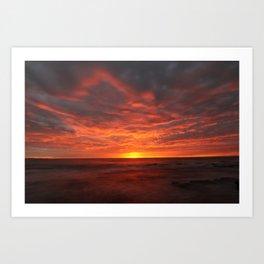 Morning Red  Art Print