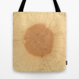 擬木富士|Map camouflaged as wood grain. Tote Bag