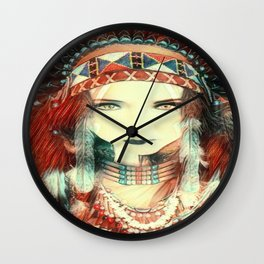 native american Wall Clock