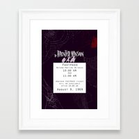 haunted mansion Framed Art Prints featuring Haunted Mansion Fastpass by margybear