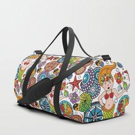 Mermaid, Bubbles & Beads Duffle Bag