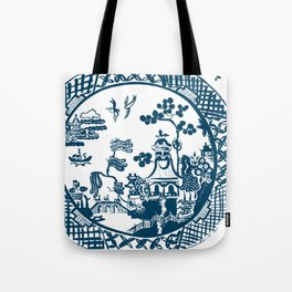 Classic Blue Willow Tote Bag