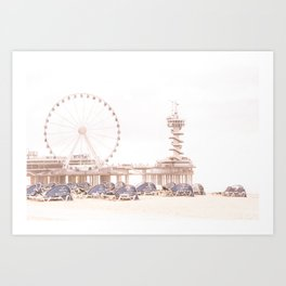 The Scheveningen Pier - The Hague Beach Art Print
