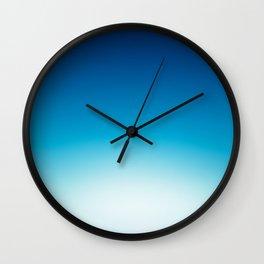 Ombre Blue Wall Clock