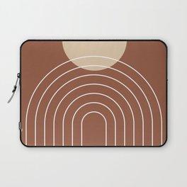 Mid Century Modern Geometric 3 (Terrocatta and beige) Laptop Sleeve