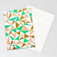 Triangle wood Stationery Cards