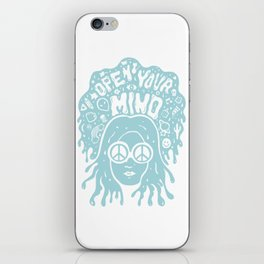 Open Your Mind in Mint iPhone Skin