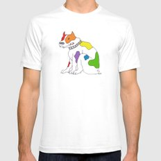 PRRRRRide! SMALL Mens Fitted Tee White