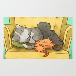 Sleeping Cat Rug
