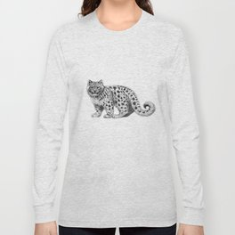 Snow Leopard cub g142 Long Sleeve T-shirt