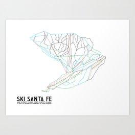 Ski Santa Fe, NM - Minimalist Trail Art Art Print