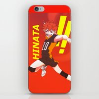 haikyuu iPhone & iPod Skins featuring Haikyuu!! Intense Hinata!! by f-premaur