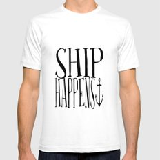 Ship Happens Mens Fitted Tee SMALL White