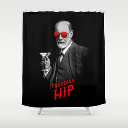 Hipster Psychologist Sigmund Freud Shower Curtain
