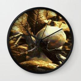 Golden Plum Wall Clock