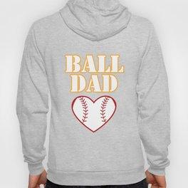 Ball Dad Love Softball Baseball Fathers Day Gifts Hoody