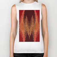 ikat Biker Tanks featuring INDY IKAT by Sherylcolour