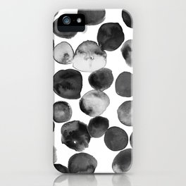 Black and White Drops iPhone Case