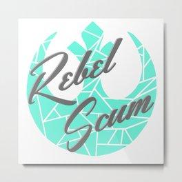 Rebel Scum Mint Gray and White Metal Print