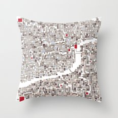 mapping home Throw Pillow