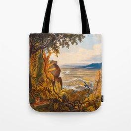 The Comuti Or Taquiare Rock Illustrations Of Guyana South America Natural Scenes Hand Drawn Tote Bag