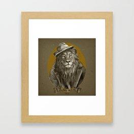 Jay the Lion - Hobo Framed Art Print