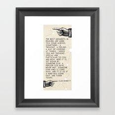the best moments Framed Art Print