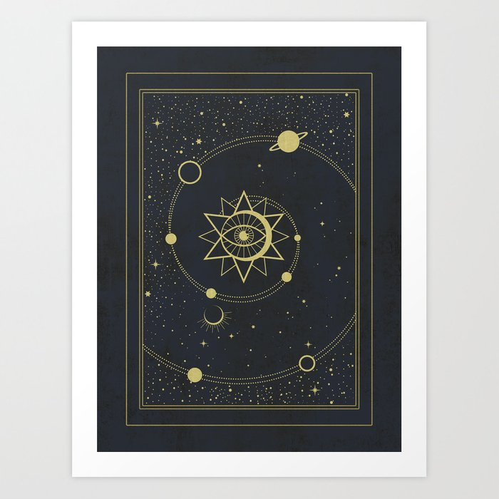 The Solar System Art Print by cafelab