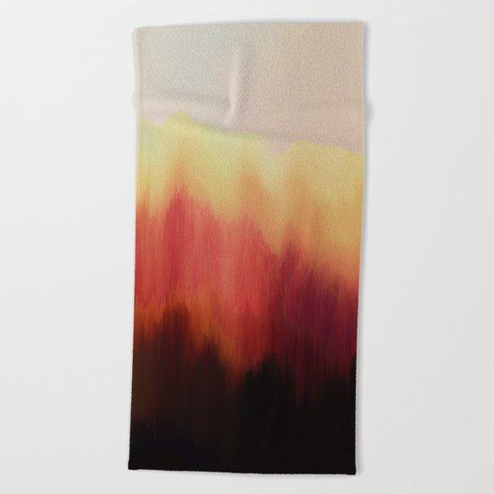 Forest Fire Beach Towel