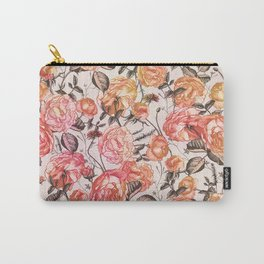 Vintage Floral Watercolor Pattern Carry-All Pouch
