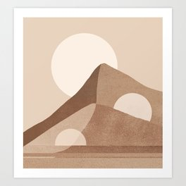 Abstraction_NEW_MOONLIGHT_MOUNTAINS_POP_ART_Minimalism_003D Art Print