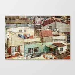 Roof tops and windows Canvas Print