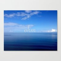 ohm Canvas Prints featuring Om  by Tru Images Photo Art